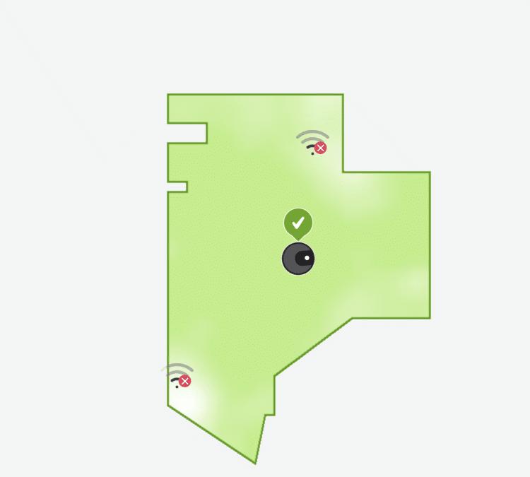 iRobot Home applikáció-Wi-Fi térkép